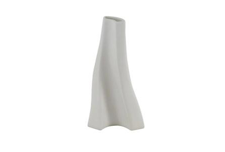 Matte White Curved Vase
