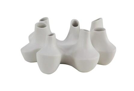 Matte White Irregular Shape Bud Vase