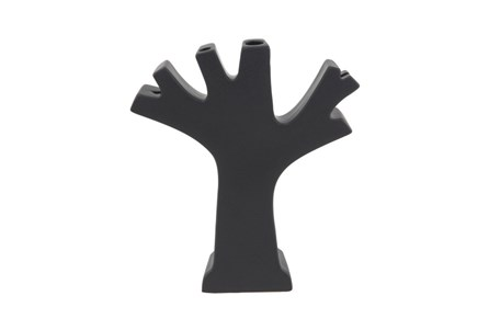 Matte Black Tree Vase