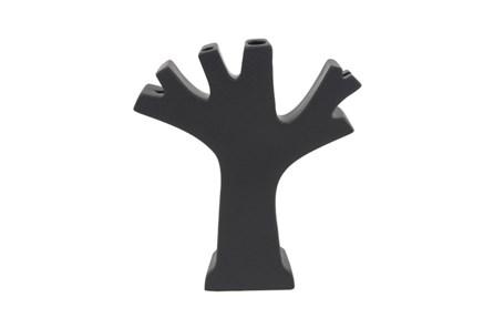 Matte Black Tree Vase - Main