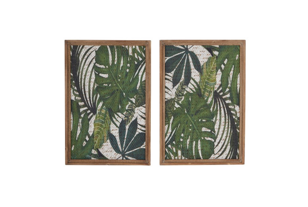 Set Of 2 Palm Wall Decor