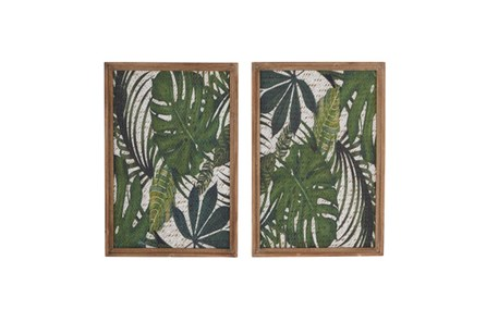 Set Of 2 Palm Wall D??Cor - Main