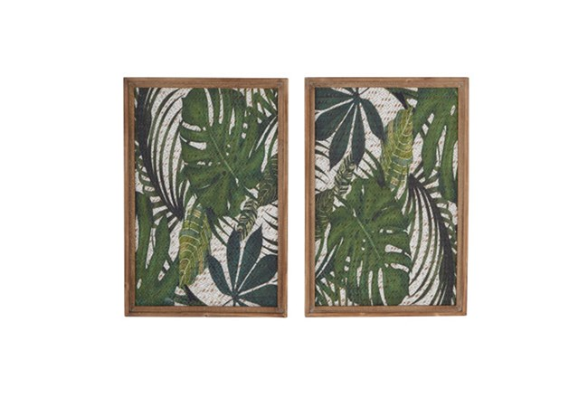 Set Of 2 Palm Wall Decor - 360