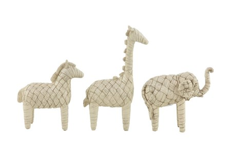 Youth-Set Of 3 Woven Animal Sculptures