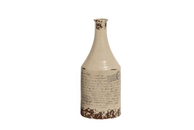 16 Inch Scripted Vase - 360