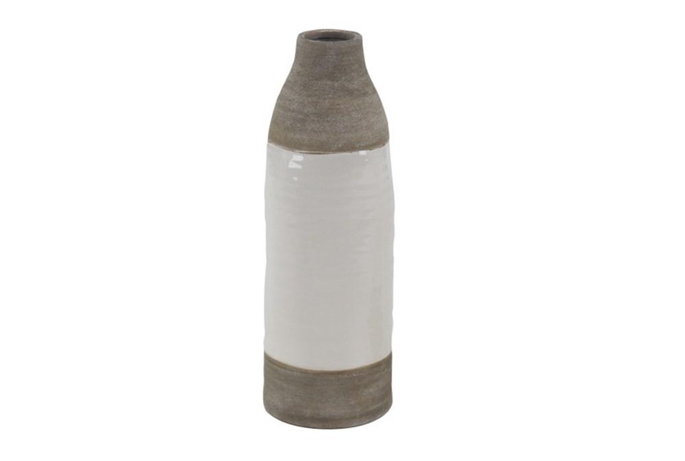 16 Inch White Dipped Vase