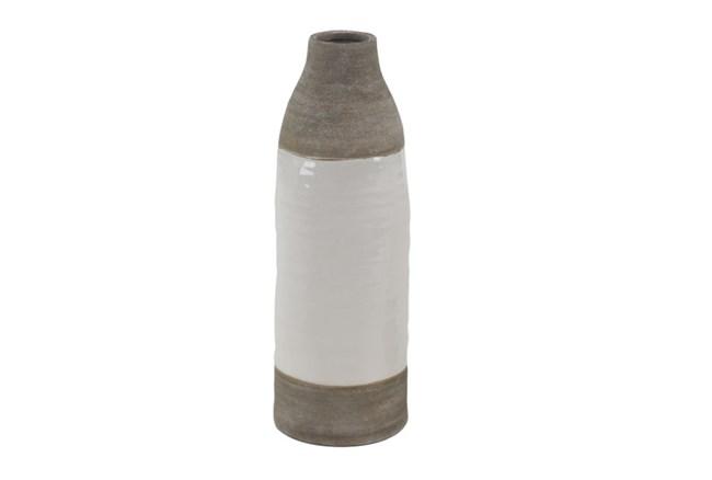16 Inch White Dipped Vase - 360