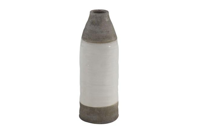 14 Inch White Dipped Vase - 360