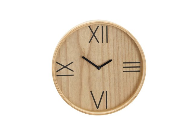 Natural Wood Wall Clock - 360