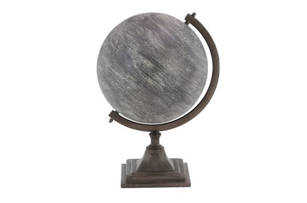 Grey Metal Globe - Main