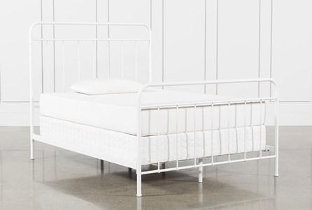 Eli Full Metal Panel Bed