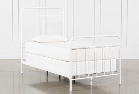 Eli Twin Metal Panel Bed