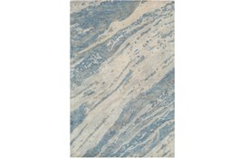 60X90 Rug-Marbled Watercolor Denim