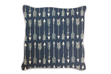 Accent Pillow-Youth Wilderness Arrows Blue 18X18