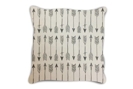 Accent Pillow-Youth Wilderness Arrows Ivory 18X18