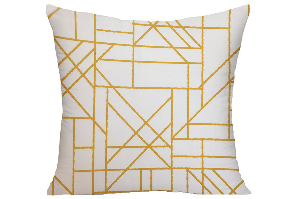 Accent Pillow-Youth Sports Lines Orange 18X18