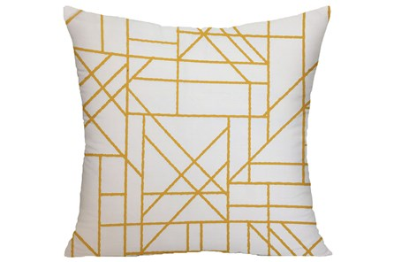 Accent Pillow-Youth Sports Lines Orange 18X18 - Main