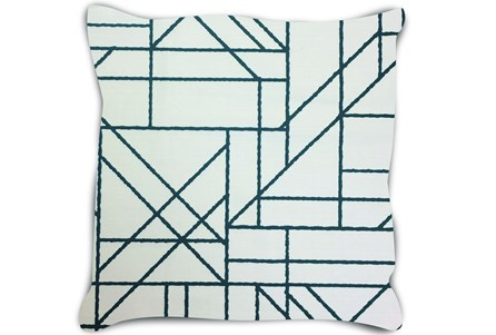 Accent Pillow-Youth Sports Lines Navy 18X18