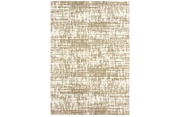 "6'6""x9'5"" Rug-Distressed Soft Shag Ivory/Taupe"