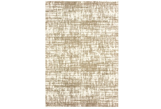 94X130 Rug-Distressed Soft Shag Ivory/Taupe - 360