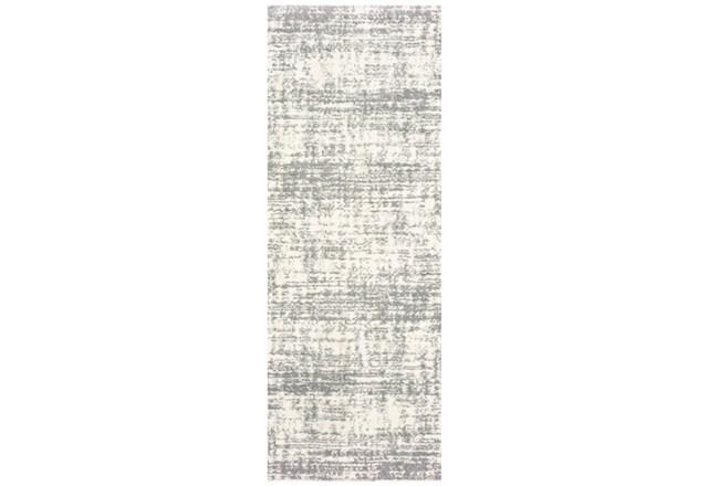 27X90 Rug-Distressed Soft Shag Ivory/Grey - 360