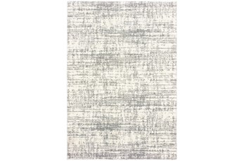 "6'6""x9'5"" Rug-Distressed Soft Shag Ivory/Grey"