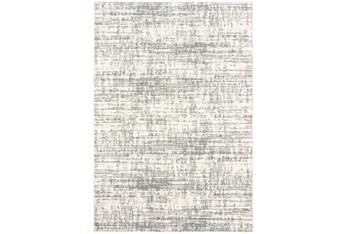 """6'6""""x9'5"""" Rug-Distressed Soft Shag Ivory/Grey"""