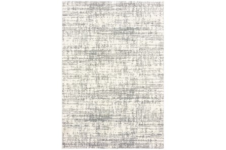 94X130 Rug-Distressed Soft Shag Ivory/Grey - Main