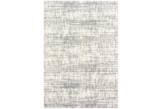 """7'8""""x10'8"""" Rug-Distressed Soft Shag Ivory/Grey - 360"""