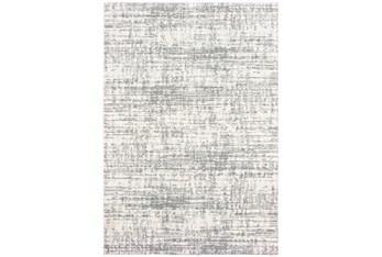 """7'8""""x10'8"""" Rug-Distressed Soft Shag Ivory/Grey"""
