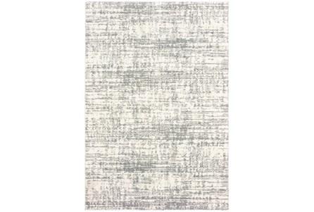 118X154 Rug-Distressed Soft Shag Ivory/Grey