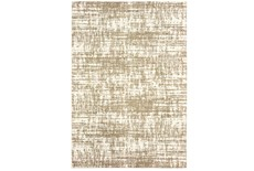 24X36 Rug-Distressed Soft Shag Ivory/Taupe