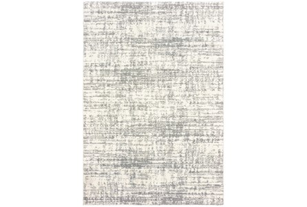 46X65 Rug-Distressed Soft Shag Ivory/Grey