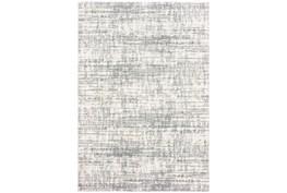 3'8x5'4 Rug-Distressed Soft Shag Ivory/Grey