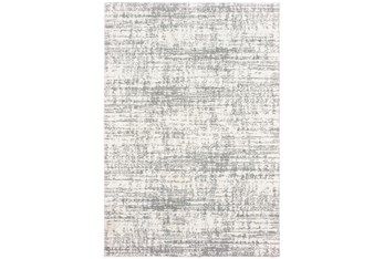 """3'8""""x5'4"""" Rug-Distressed Soft Shag Ivory/Grey"""