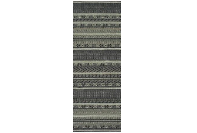 27X90 Rug-Grey/Navy Stripes - 360