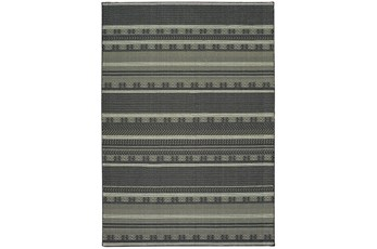 46X65 Rug-Grey/Navy Stripes