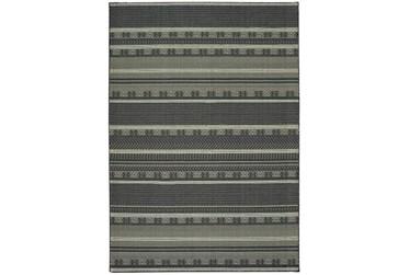 "3'8""x5'4"" Rug-Grey/Navy Stripes"