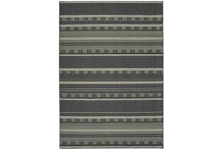 46X65 Rug-Grey/Navy Stripes