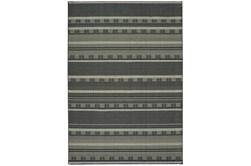 79X114 Rug-Grey/Navy Stripes