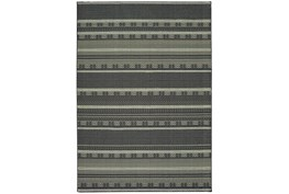 94X130 Rug-Grey/Navy Stripes