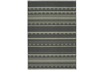 "7'8""x10'8"" Rug-Grey/Navy Stripes"