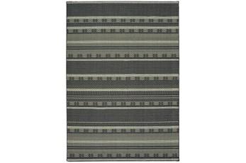 118X154 Rug-Grey/Navy Stripes