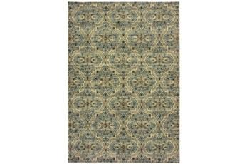 27X90 Rug-Moroccan Lattice Ivory/Blue