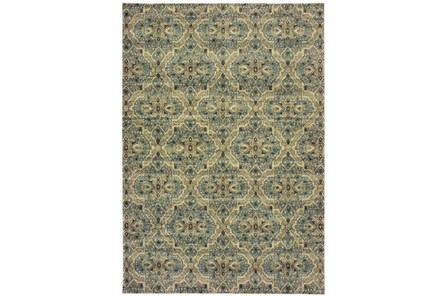 27X90 Rug-Moroccan Lattice Ivory/Blue