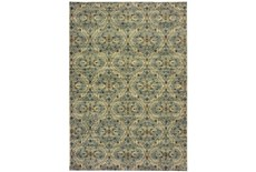 118X154 Rug-Moroccan Lattice Ivory/Blue