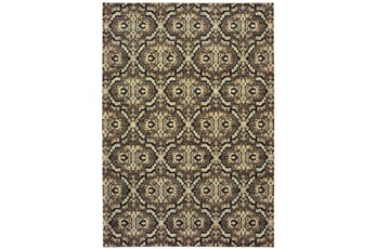 46X65 Rug-Moroccan Lattice Brown/Navy