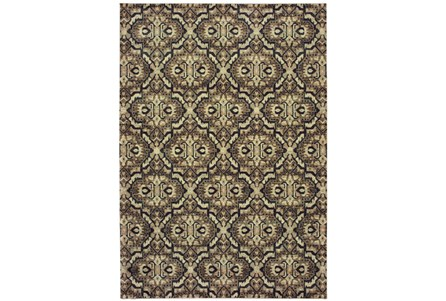 94X130 Rug-Moroccan Lattice Brown/Navy