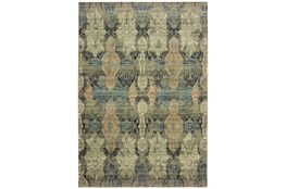 "7'8""x10'8"" Rug-Distressed Floral Blue/Taupe"