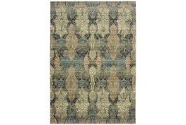 """7'8""""x10'8"""" Rug-Distressed Floral Blue/Taupe"""